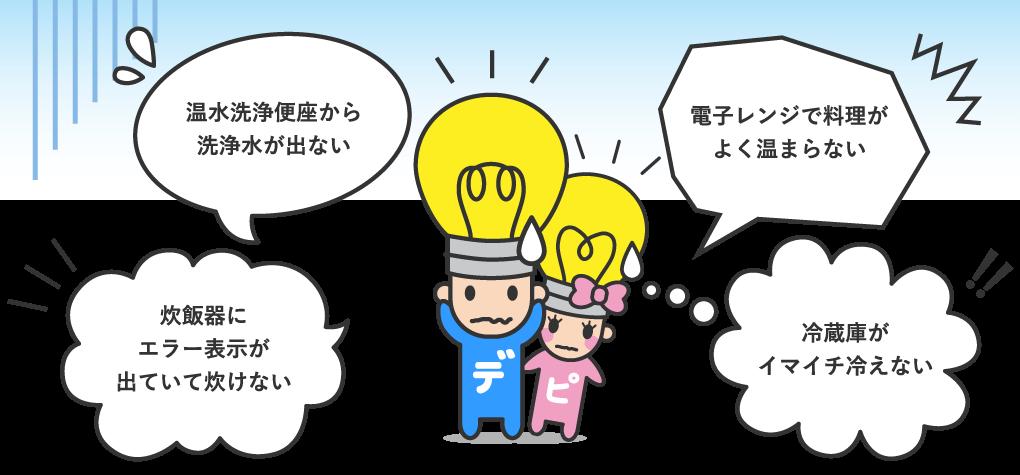 土浦市・つくば市の家電修理・エアコン | デジタルオーム | デンキくん